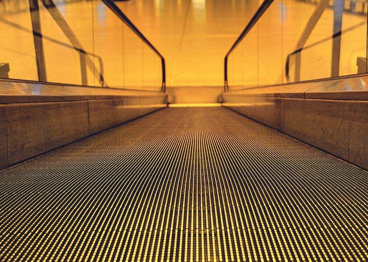 Moving Walkway At Airport