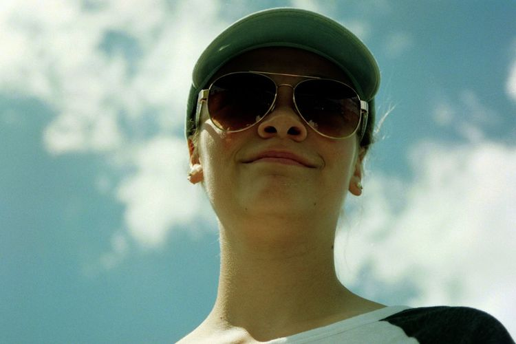 Sunglasses Sky Cloud - Sky Day One Person Low Angle View Childhood Real People Outdoors Headshot Portrait Young Adult Close-up People Pride @aidan_remmick