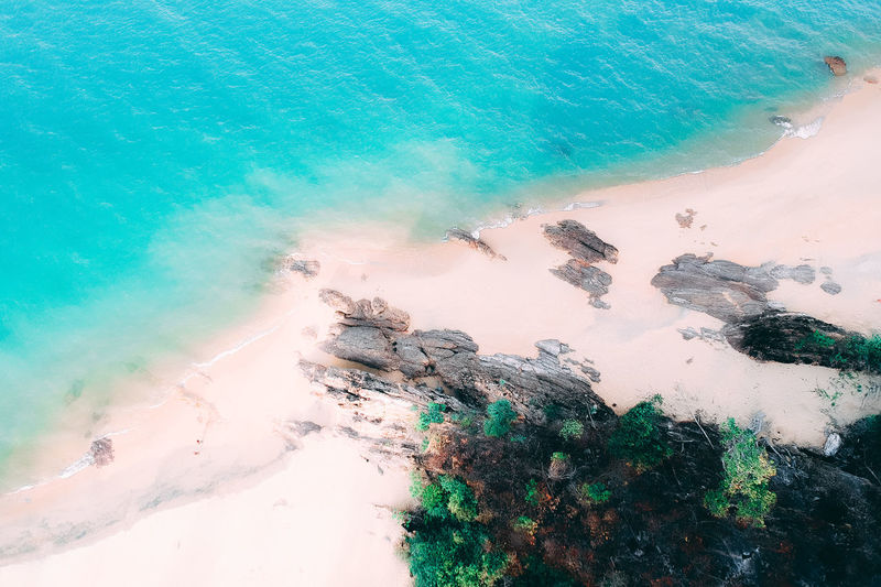beach and green Water Sea Land Beach Beauty In Nature Nature Motion High Angle View Day Scenics - Nature Rock Sport Tranquility No People Outdoors Rock - Object Aquatic Sport Wave Tranquil Scene Power In Nature Turquoise Colored