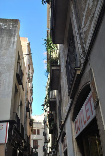 Architecture Balcony Barcelona Barcelona, Spain Building Exterior Built Structure Catalonia Catalunya City Day No People Old Buildings Old Town Outdoors Sky SPAIN Street Street Photography Streetphotography