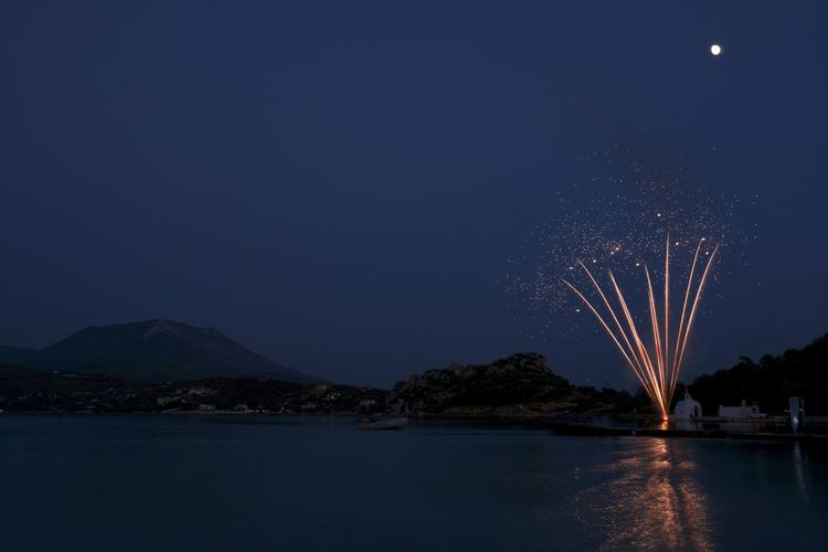 Fireworks GREECE ♥♥ Nightphotography Wedding Beauty In Nature Celebration Firework Firework Display Greece Lake Landscape Long Exposure Mountain Nature Night Water Waterfront