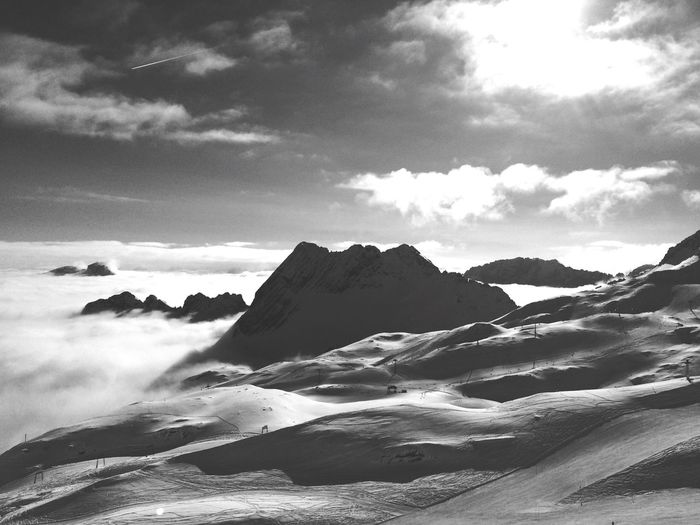 High above Zugspitze Winter Wintertime Altitude The Great Outdoors With Adobe