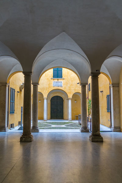Arcade Arch Architectural Column Architecture Belief Building Built Structure Ceiling Colonnade Corridor Courtyard  Day Empty Flooring History Indoors  Nature No People Place Of Worship The Past The Way Forward