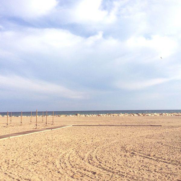 Cambrils España Nuageux Mer Plage Landscape