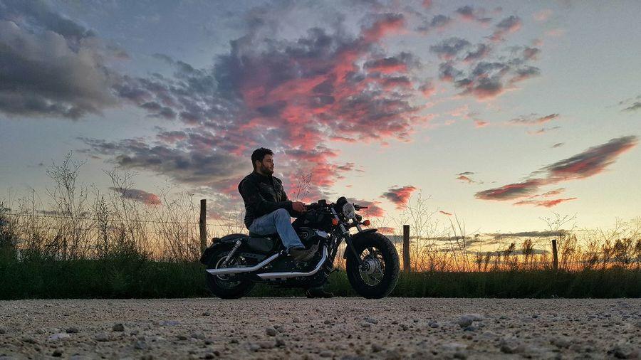 Harleydavidson Sunset Tramonto Roma Autorscatto Selfie Danieledonofrio