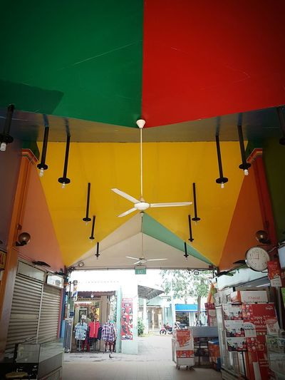 Colorful Imperfections. Imperfections Ceiling Colors Little India Singapore Accentcolor Angles Pattern City Multi Colored Hanging Red Architecture Ceiling Light