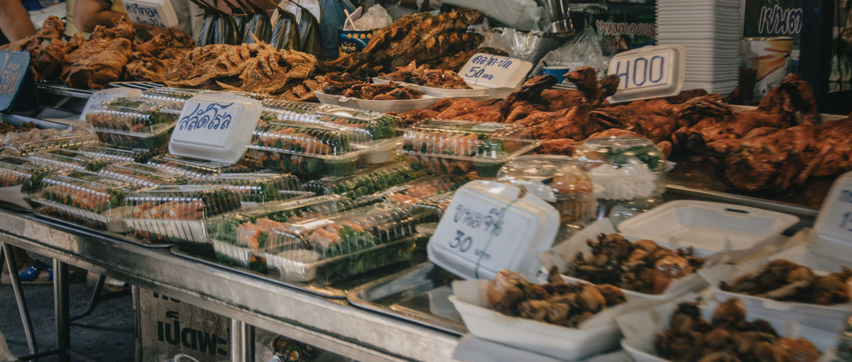 Street foods for sale at don wai market