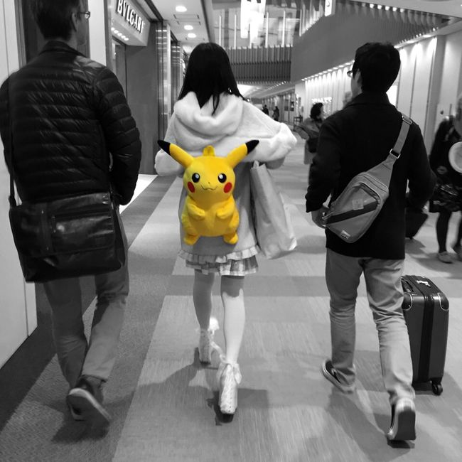 Holiday People Watching Family Pokémon NARITAAIRPORT