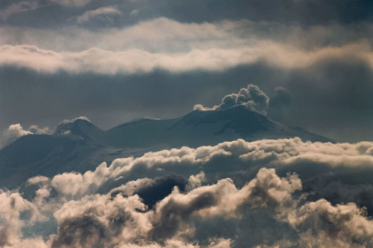 Cloud - Sky Sky Beauty In Nature Scenics - Nature Tranquility No People Nature Tranquil Scene Cloudscape Outdoors Day Idyllic Low Angle View Environment Dramatic Sky Fluffy Overcast Mountain Backgrounds Softness Meteorology Above