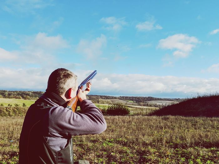 Take the Shot Clay Pigeon Shooting Shotgun Country Living Photo Messaging Warm Clothing Photographing Rural Scene Photography Themes Field Countryside