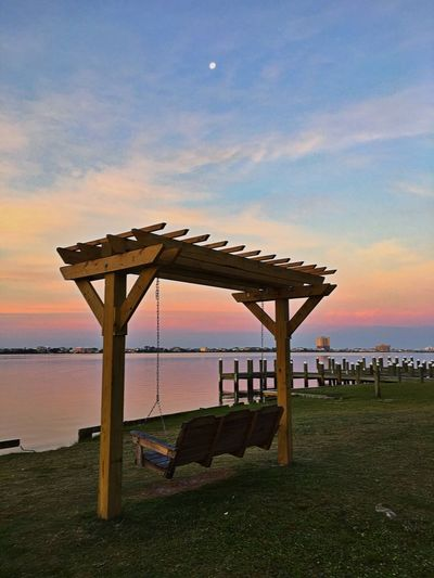 Swings Sunrise Swing GoodMorning⛅ Taking Photos Relaxing Ocean Time Sea And Sky WOW Perfect Scene