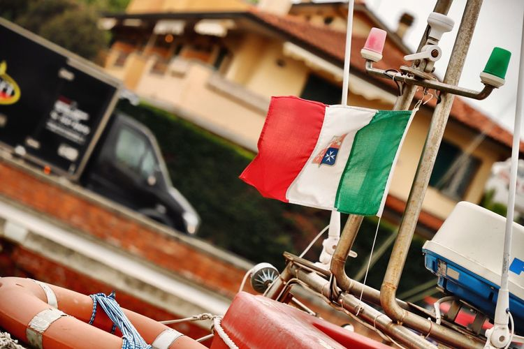 Harbor Harbour Harbour View Harbourside Italy Cervia Flag Flags Flags In The Wind  Italy Flag Selective Focus Windy National Flag National National Icon Focus On Foreground Day Hanging Close-up No People Outdoors