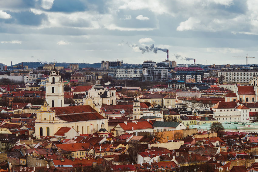 Vilnius Rooftops Architecture Building Exterior Built Structure Capital City Cityscape Cloud - Sky Community Day Europe Outdoors Residential Building Roof Roof Tops Sky Travel Destinations