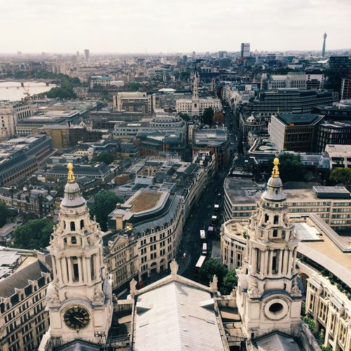 View from top of St Paul's Cathedral London