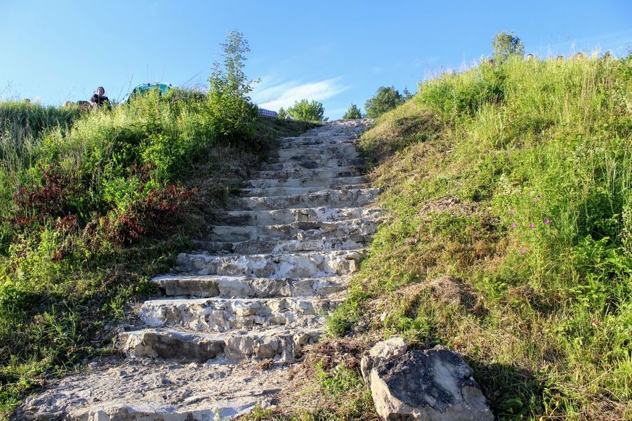 Beauty In Nature Day Festival Grass Growth Landscape Mountain Nature No People Outdoors Plant Rock - Object Scenics Sky Steps Steps And Staircases The Songs Of Bezhin Meadow The Way Forward Tranquil Scene Travel Destinations Tree