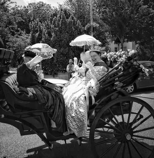 Queen Victoria  Carriage Dickens Festival Broadstairs Kent England Women Adult Lifestyles Day Adults Only Sitting