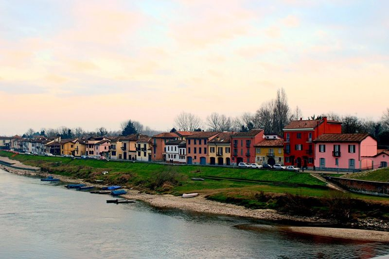 Pavia Lombardia Italy Sky And Sea Walking Water Colorfull Houses Italiancity Peace And Quiet Color Portrait Colorpower Riverside Lovely Cute Pavia Ticino Riverbank Colorful Colored Houses Like4like Follow4follow Followme Likeback