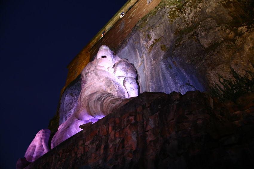 Bartholdi Belfort Chateaux Château France Http://www.varrinphotographie.com/ #Salbert #mont #antenne #relais #Franche-Comte #France #Belfort #Varrinphotographie – à Franche-Comte, France. Lion Nocturne Remparts Vauban