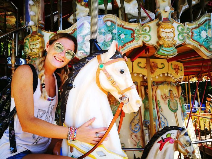 carussel #horse #kid #play #caruselhorse EyeEm Selects Amusement Park Arts Culture And Entertainment Carousel Amusement Park Ride Animal Representation Enjoyment Outdoors Leisure Activity International Women's Day 2019