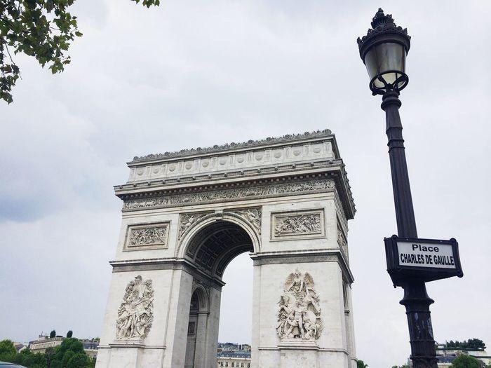 View Of Arc De Triomphe Against Sky