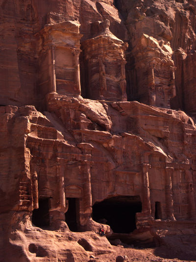 Jordan Middle East Petra World Heritage Ancient Ancient Civilization Archaeology Architecture Built Structure Carving History Old Ruin Outdoors Rock - Object Sculpture The Past Tourism Travel Travel Destinations World Wonders