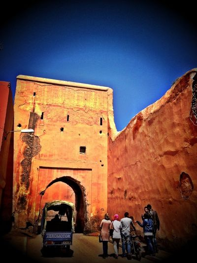 City Gate Old Town Old Town Walls Reddish Antique Historical IPhoneography Marrakech Morocco