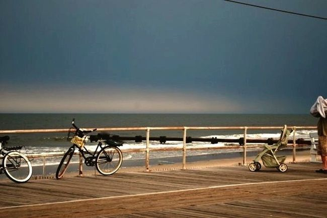 Jersey Shore First Eyeem Photo Beach Bike Old Fashion Shore Subset Boardwalk Postcard Kodak Moment Waves