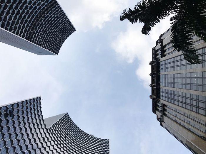 Building Exterior Towers Sky Skyscraper Architecture Façade Building And Sky Design Honey Bee Batmanbuilding _ Bugis, Singapore