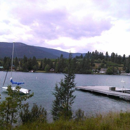 Hanging down at the lake Workishard ILoveMyJob Flathead Montana