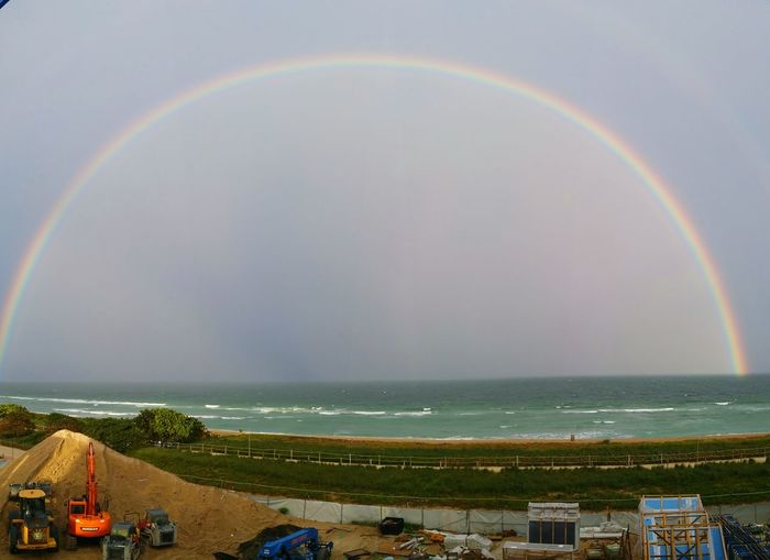 Stitched rainbow pics. It took a few tries to get it all together. The double rainbow doesn't show up, however.