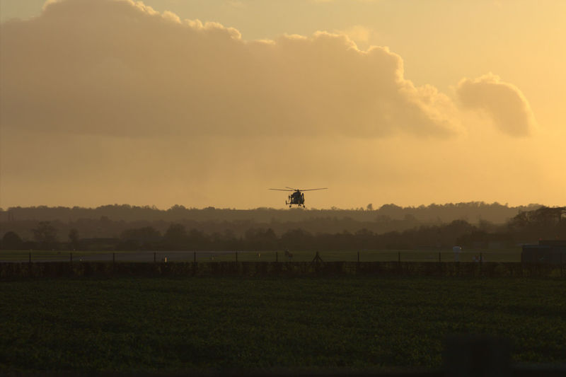 Helicopter Yeovilton Somerset Evening Sky Landscape Popular Photos Aircraft Flight