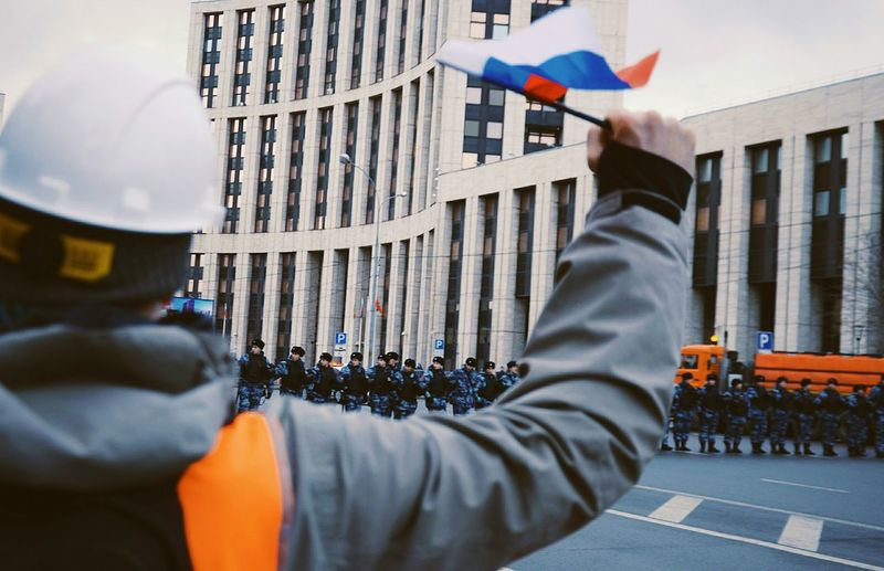 """Russia without Putin"" Police Violence Russia Demonstration Men Politics And Government Lighthouse Democracy"