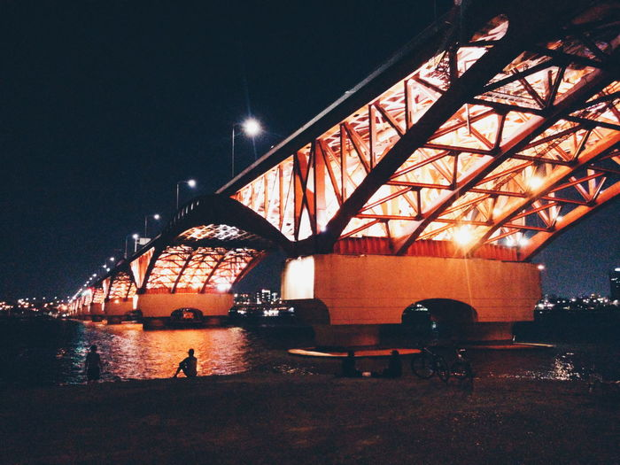 Seongsandaegyo Seongsan Bridge Han River Han River Bridge Bridge Seoul Korea Night Night Photography Night Lights seongsandaegyo lit up at night