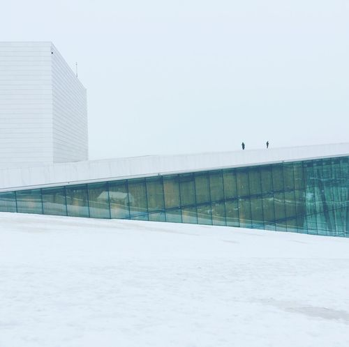 Oslo's opera house Diagonals White Architecture Snow Winter Built Structure Outdoors Clear Sky Cold Temperature Modern Building Exterior Shades Of Winter
