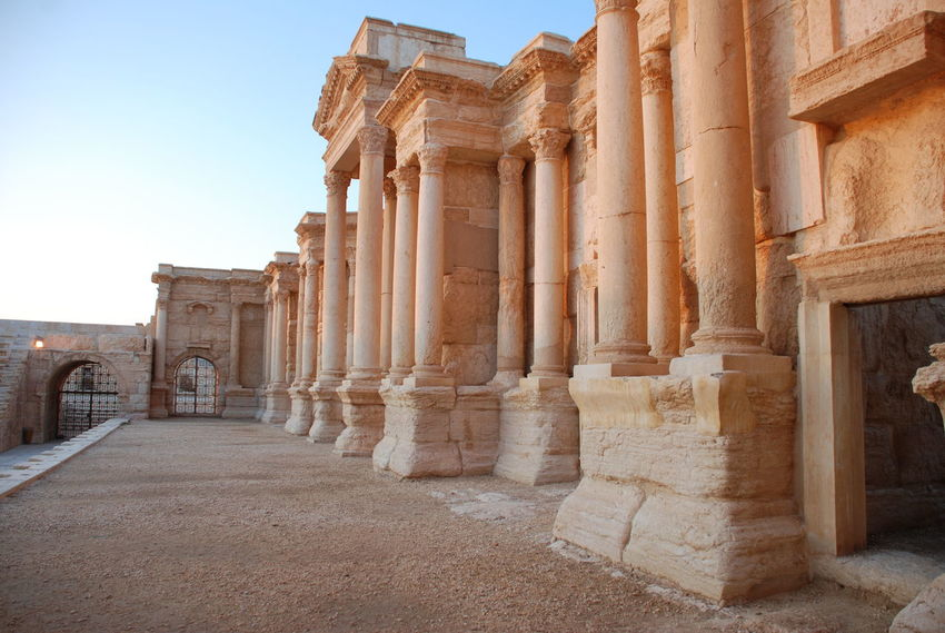 Ancient Civilization Archaeology Architectural Column Architecture Built Structure Colonnade History No People Old Ruin Palmyra Palmyra Ruins Roman Theatre Stage Syria  Travel Destinations