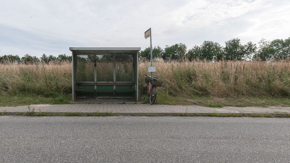 alone like a bus stop without passengers Transportation Sky Mode Of Transport Land Vehicle Outdoors Road Rural Scene Scenics Alone Loneliness Lonely Outdoor Bus Stop Waiting Minimal