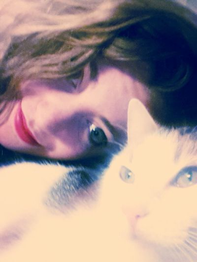 chilling with my cat <3
