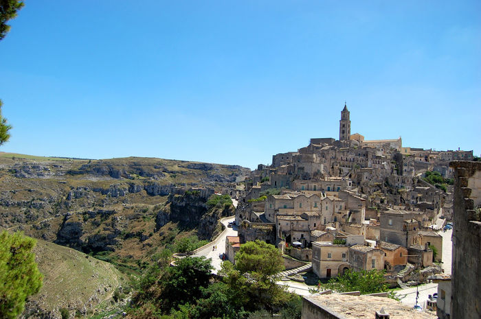 Architecture Architecture Architecture_collection Beautiful Day Beautiful Place Beauty In Nature Blue Building Exterior Built Structure City Clear Sky Day Historic City History Matera2019 Nature Nature Nature_collection No People Outdoors Relaxing Rock Sky Travel Destinations Tree