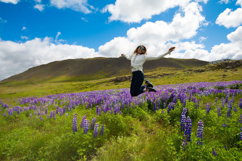 Agriculture Beauty In Nature Casual Clothing Cloud - Sky Day Field Flower Fragility Freshness Growth Landscape Lavender Lavender Colored Leisure Activity Lifestyles Mountain Nature One Person Outdoors Plant Purple Real People Scenics Sky Young Women Sommergefühle Summer Exploratorium