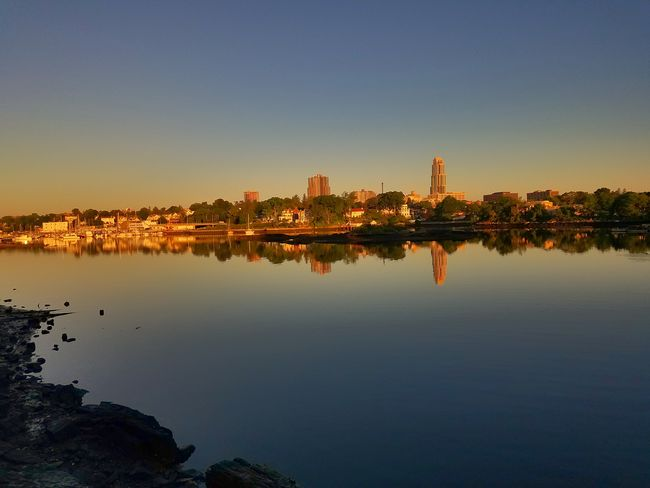 A lovely morning at Five Islands Park, New Rochelle (6/17/2018) Bay Dawn EyeEm Selects City Cityscape Urban Skyline Skyscraper Tree Modern Calm Scenics Tall - High Tranquil Scene Waterfront