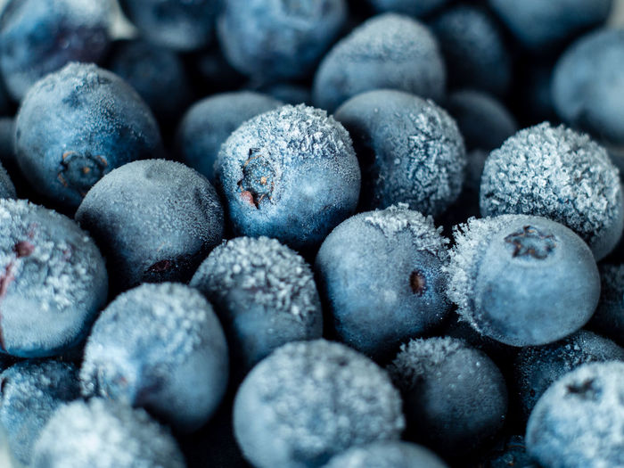 Healthy Breakfast: Close up of frozen blueberries, macro shot, top view Blueberry Breakfast Frozen Food Vegan Fruit Antioxidant Food And Drink Food Full Frame Close-up Freshness Backgrounds No People Wellbeing Indoors  Healthy Eating Large Group Of Objects Berry Fruit Abundance Selective Focus Cold Temperature Blue Sweet Food Day Ripe Temptation Snack