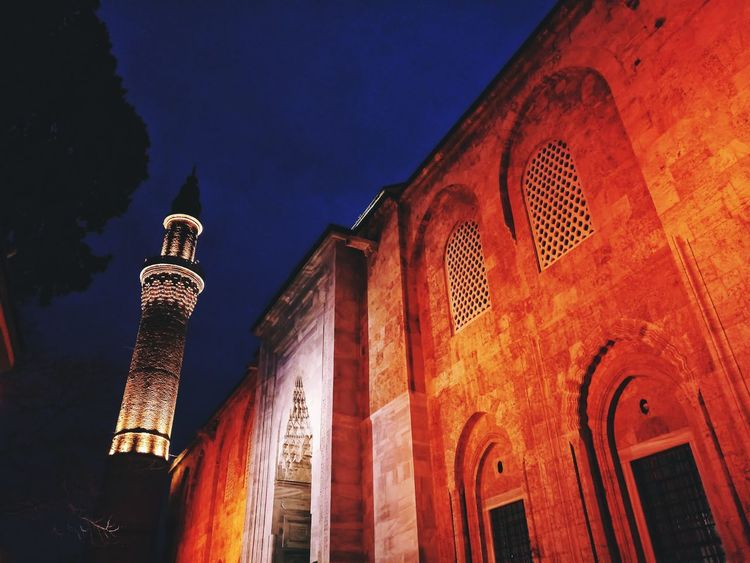 Night Architecture Illuminated History Travel Destinations Building Exterior Built Structure No People Outdoors Sky Mousque Mosque Architecture Mosque Turkey Bursa / Turkey Ulucamii EyeEm Selects