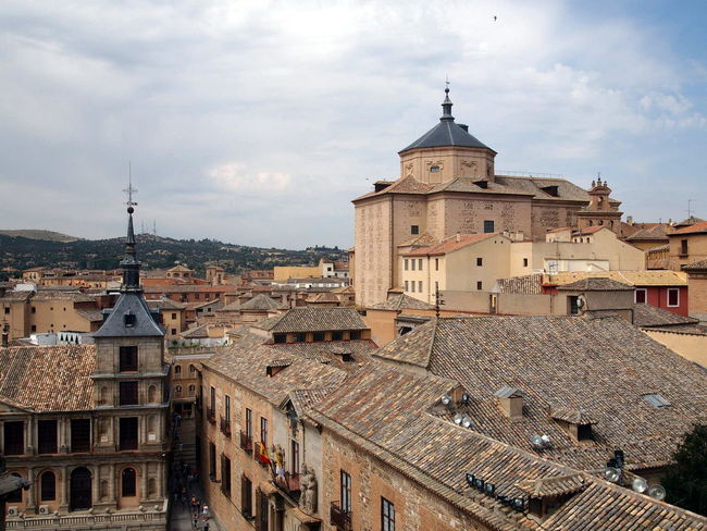 Architecture City History Religion Rooftop No People Place Of Worship Built Structure Cloud - Sky Sky Building Exterior Day Travel Destinations Roof Outdoors Roof Top Toledo Toledo Spain Cathedral