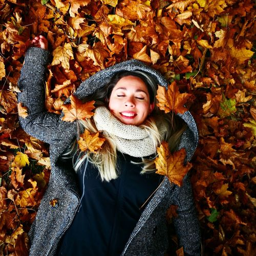 Smiling Cute One Person Girls Portrait Looking At Camera Autumn Happiness Front View Jacket Playing Warm Clothing Joy Fun Enjoyment Vacations Adults Only People Winter Is Coming Nature Beauty Nature Tree Leaves Connected By Travel EyeEmNewHere Second Acts Be. Ready. Love Yourself Press For Progress Inner Power Adventures In The City Focus On The Story