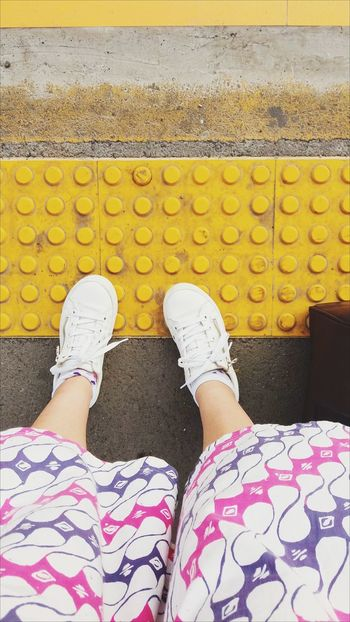 Paint The Town Yellow Subway People Human Leg One Person Personal Perspective Subwayphotography Subway Station Standing Lifestyles Eye4photography  EyeEm Gallery EyeEm Selects Eyeemphotography