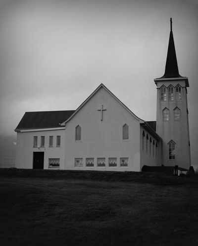 Arhitecture Black And White Blackandwhite Building Church Iceland Morbidity Religion