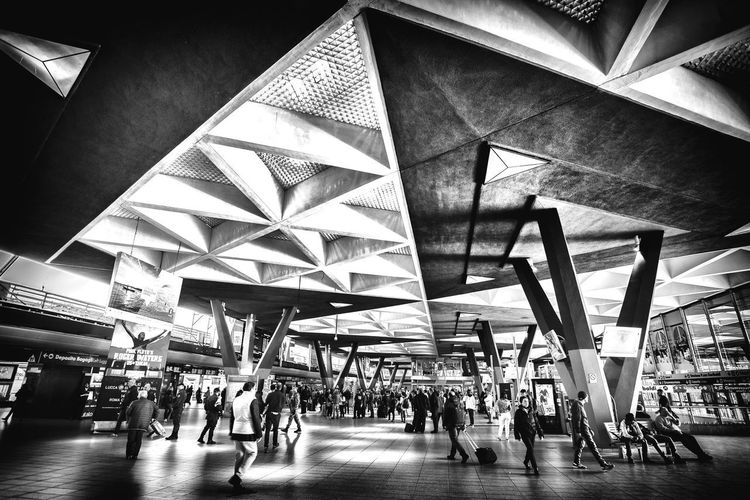 Ants Blackandwhite Photography Black And White Blackandwhite Group Of People Crowd Architecture Real People Lifestyles Men Large Group Of People Indoors  Built Structure Walking Transportation Building Architectural Column City Travel