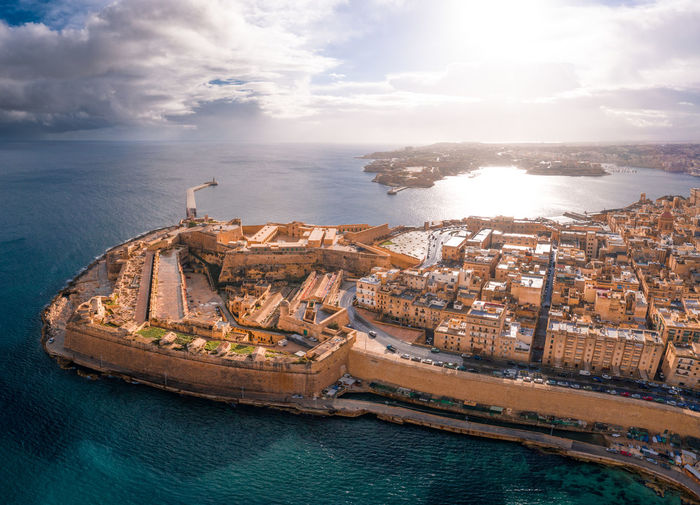 Fort St Elmo, Valletta, Malta, aerial view Valletta Valletta,Malta Malta Maltaphotography Malta In My Eyes Valletta Architecture Mediterranean  Aerial View Aerial Aerial Photography Water Sea Architecture City Cityscape High Angle View Travel No People Built Structure Travel Destinations Capital Cities  Capital Ocean Mediterranean Sea Island Drone  Ancient Beautiful Cliffs Coast Coastline Fort Fort St Elmo Europe Eu Seaside Resort