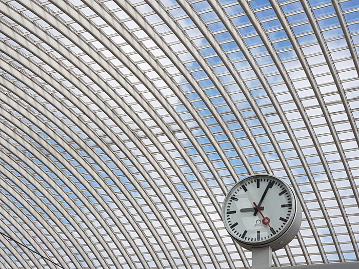 Time Clock Low Angle View Architecture S7edgephotography Samsung S7 Edge Samsung Galaxy S7 Belgium Railway Stations Central Station Lüttich Liège Travel Destinations Canoma Photography Belgium
