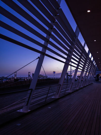 Sky Bridge - Man Made Structure Outdoors No People Night Architecture Winter Wintertime Wooden Floor Sunset Sunset_collection Night Lights Night Sky City City Life Cityscape Clouds Clouds And Sky